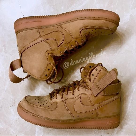 Nike Shoes Air Force 1 High Lv8 Flax Wheats Mens 10 Poshmark